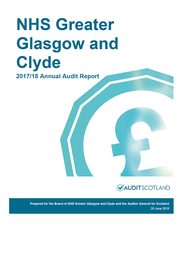 Report cover: NHS Greater Glasgow and Clyde annual audit report 2017/18