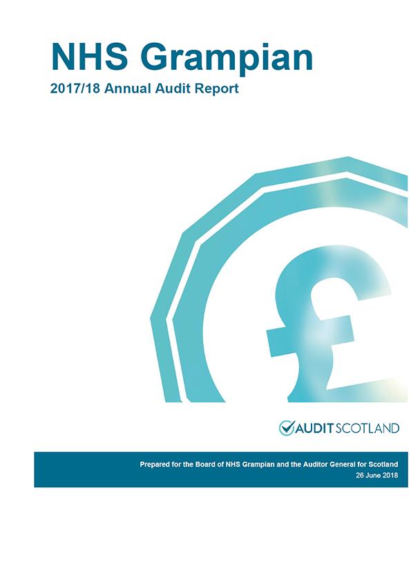 Report cover: NHS Grampian annual audit report 2017/18