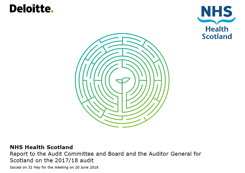 Report cover: NHS Health Scotland annual audit report 2017/18
