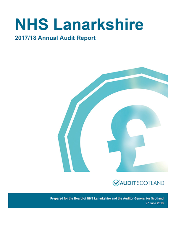 Report cover: NHS Lanarkshire annual audit report 2017/18