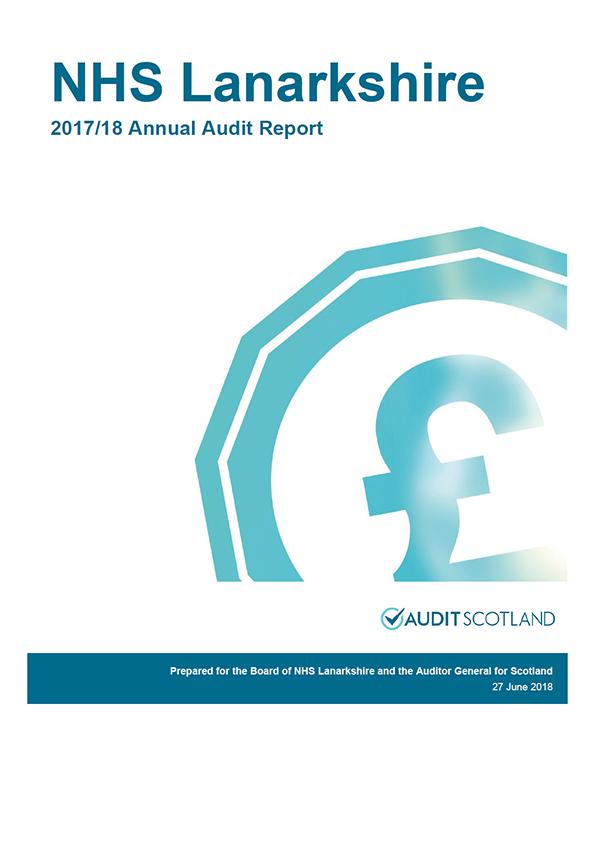 Report cover: NHS Lanarkshire annual audit report 2017/18
