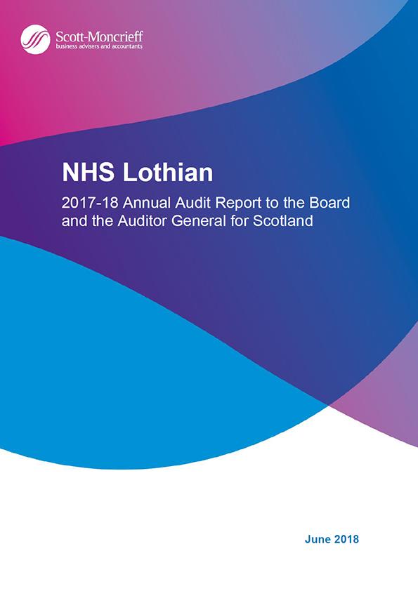 Report cover: NHS Lothian annual audit report 2017/18