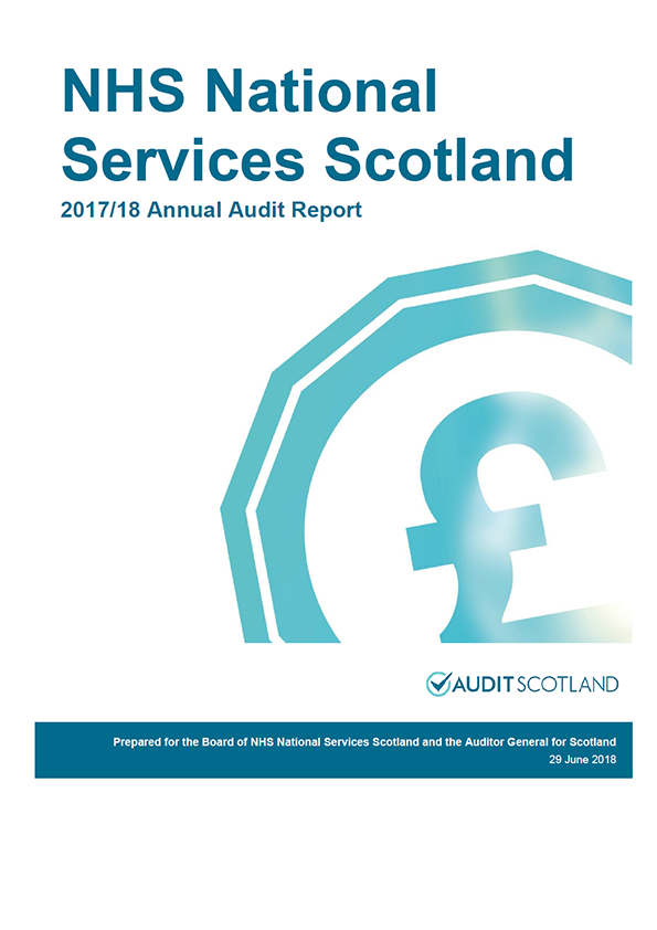 Report cover: NHS National Services Scotland annual audit report 2017/18