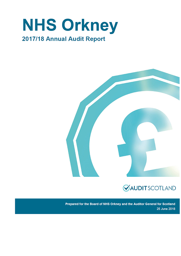 Report cover: NHS Orkney annual audit report 2017/18