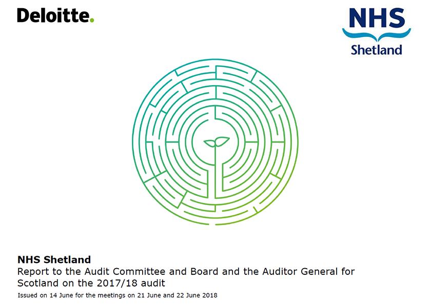 Report cover: NHS Shetland annual audit report 2017/18