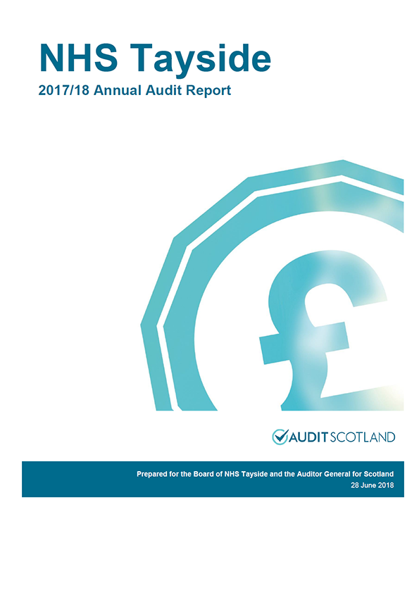 Report cover: NHS Tayside annual audit report 2017/18