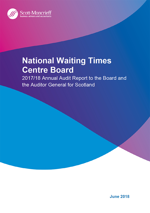 Report cover: National Waiting Times Centre Board annual audit report 2017/18