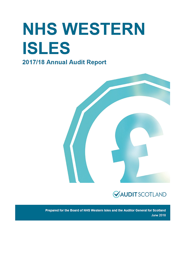 Report cover: NHS Western Isles annual audit report 2017/18