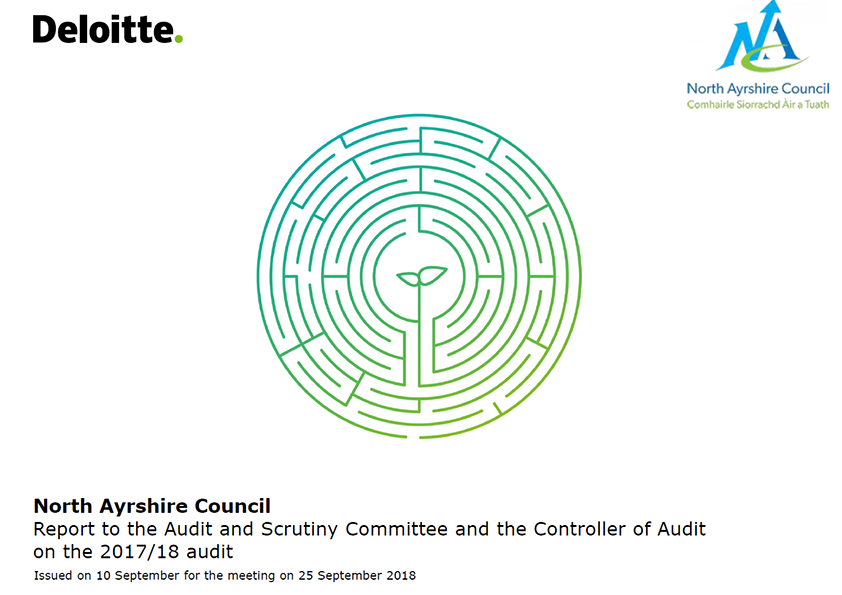 Report cover: North Ayrshire Council annual audit report 2017/18