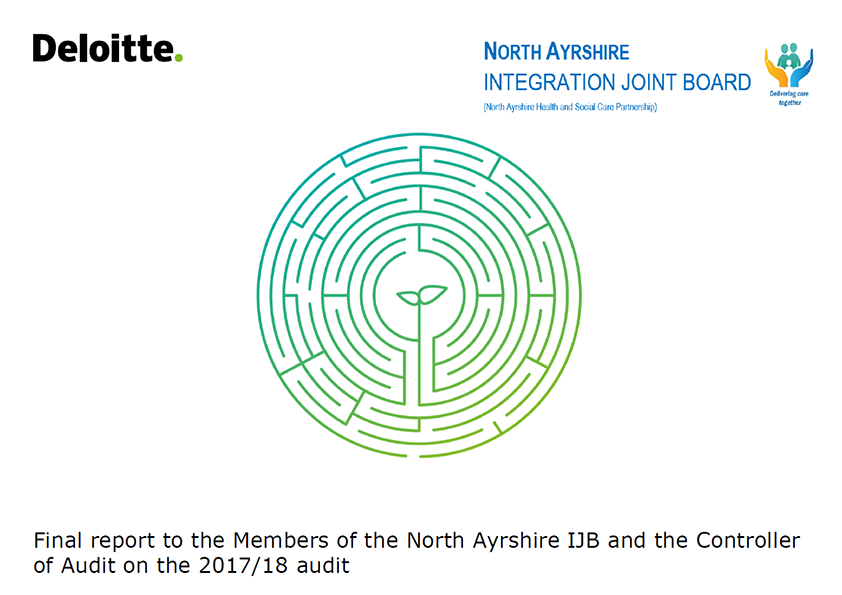 Report cover: North Ayrshire Integration Joint Board annual audit report 2017/18