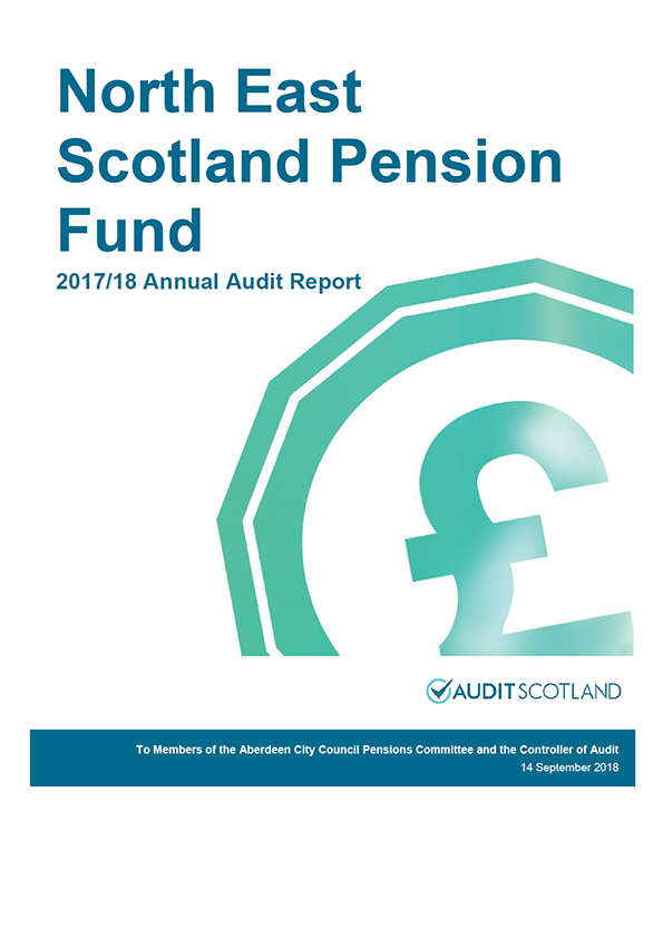 Report cover: North East Scotland Pension Fund annual audit report 2017/18