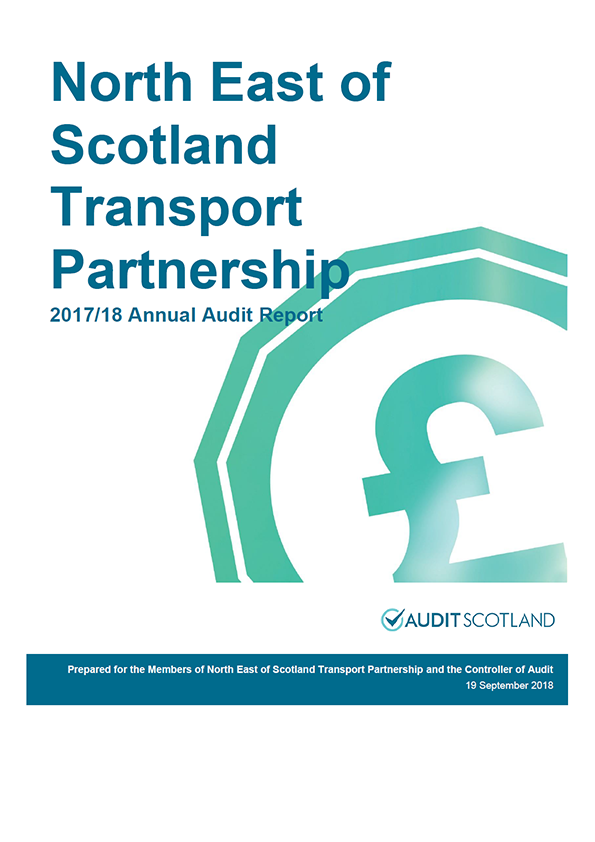 Report cover: North East Scotland Transport Partnership annual audit report 2017/18