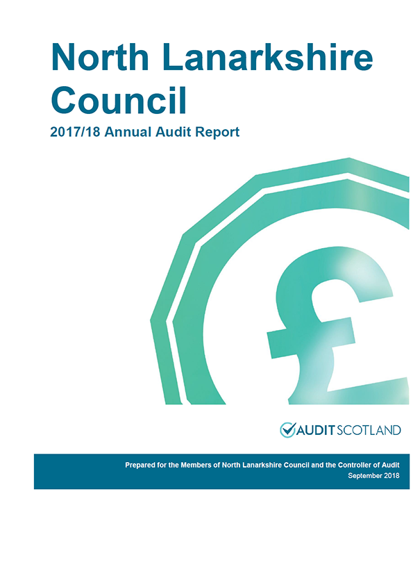 Report cover: North Lanarkshire Council annual audit report 2017/18