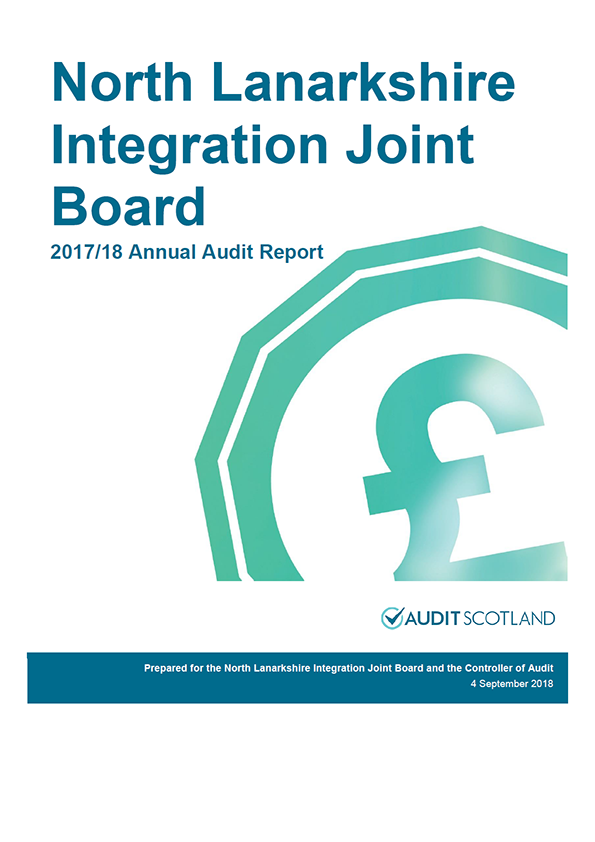 Report cover: North Lanarkshire Integration Joint Board annual audit report 2017/18