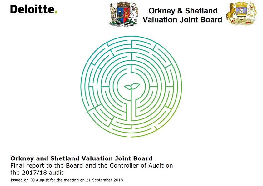 Report cover: Orkney and Shetland Valuation Joint Board annual audit report 2017/18