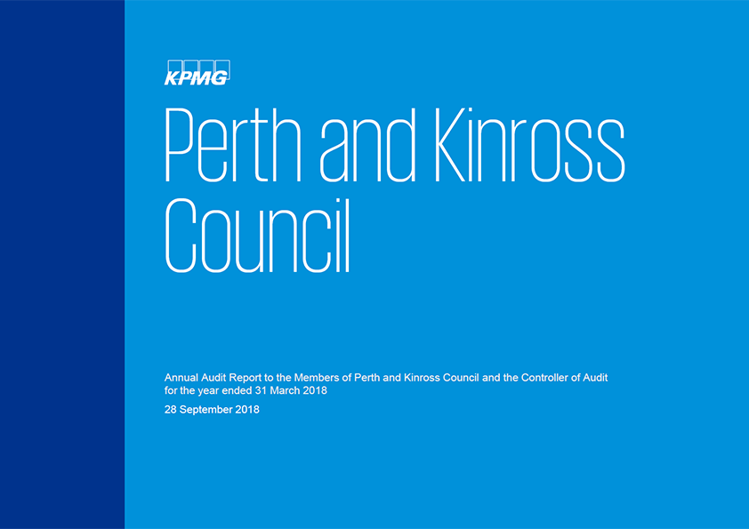 Report cover: Perth and Kinross Council annual audit report 2017/18