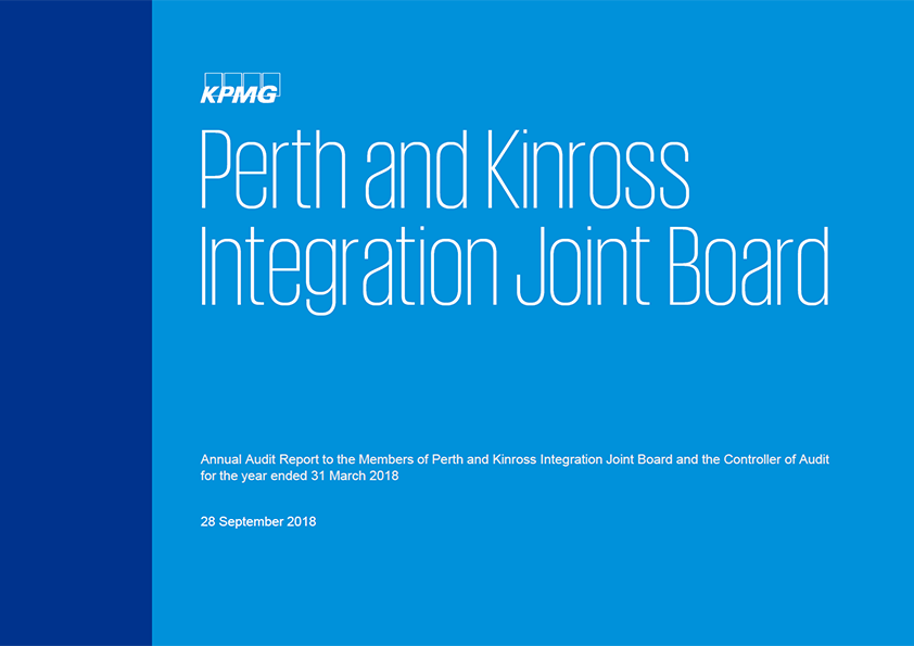 Report cover: Perth and Kinross Integration Joint Board annual audit report 2017/18