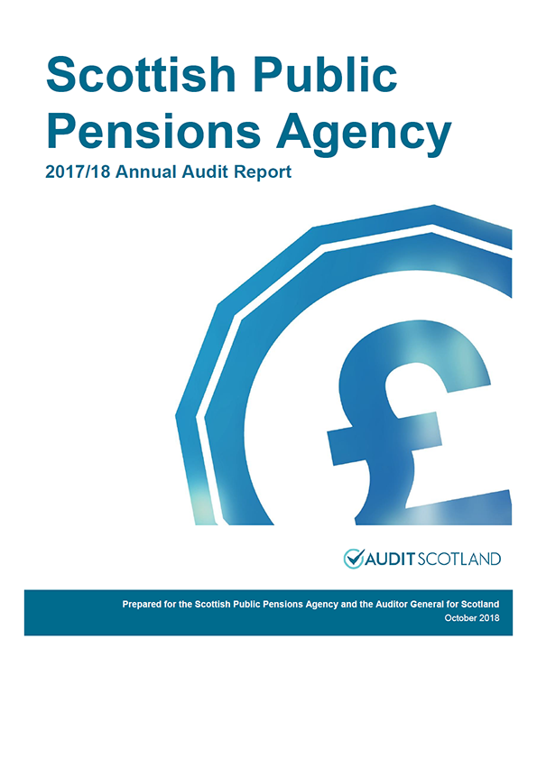 Report cover: Scottish Public Pensions Agency annual audit report 2017/18