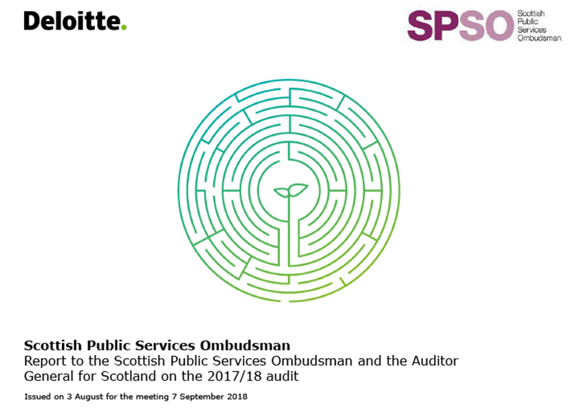 Report cover: Scottish Public Services Ombudsman annual audit report 2017/18