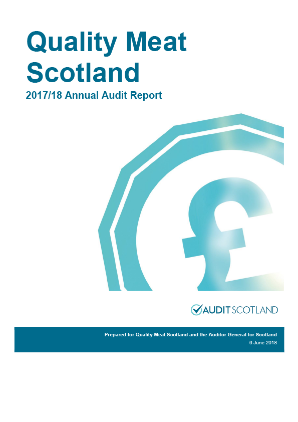 Report cover: Quality Meat Scotland annual audit report 2017/18