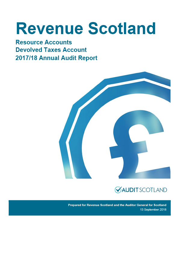 Report cover: Revenue Scotland annual audit report 2017/18