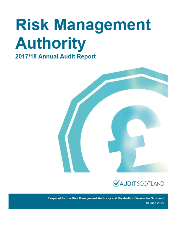 Report cover: Risk Management Authority annual audit report 2017/18