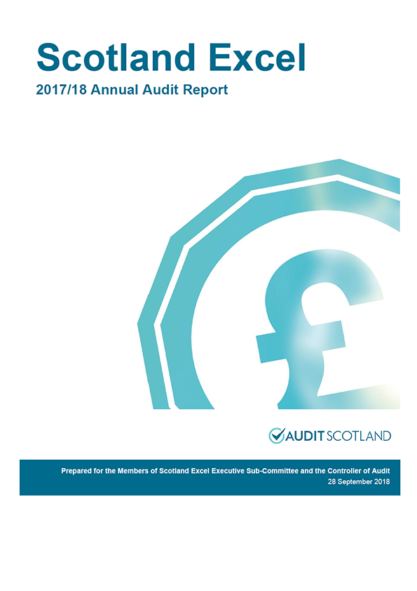 Report cover: Scotland Excel annual audit report 2017/18