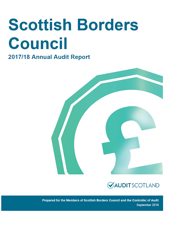 Report cover: Scottish Borders Council annual audit report 2017/18