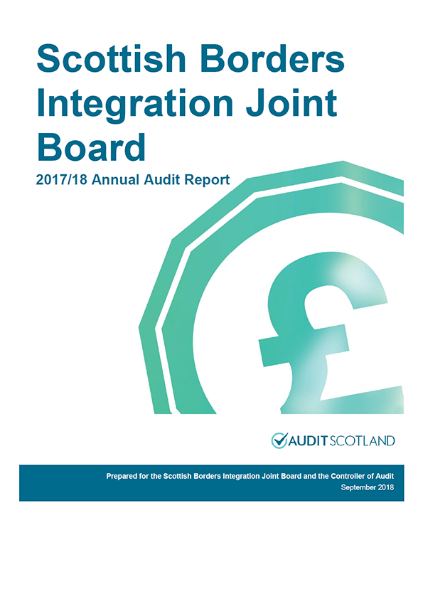 Report cover: Scottish Borders Integration Joint Board annual audit report 2017/18