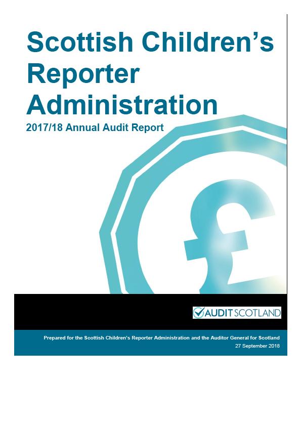 Report cover: Scottish Children's Reporter Administration annual audit report 2017/18