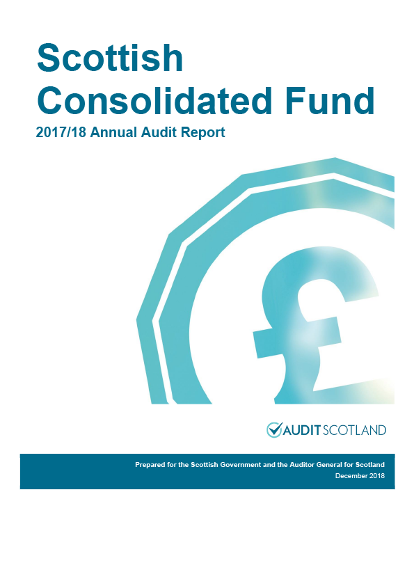 Report cover: Scottish Government: Scottish Consolidated Fund annual audit report 2017/18