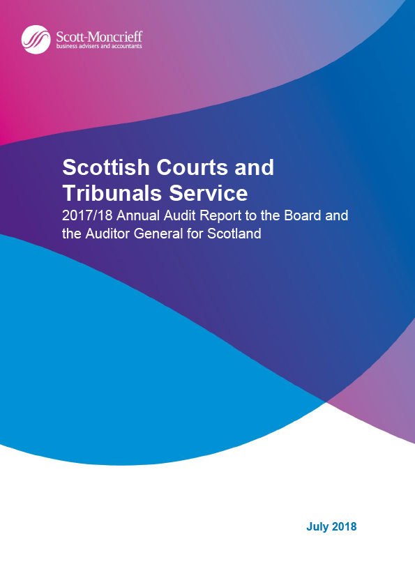 Report cover: Scottish Courts and Tribunals Service annual audit report 2017/18