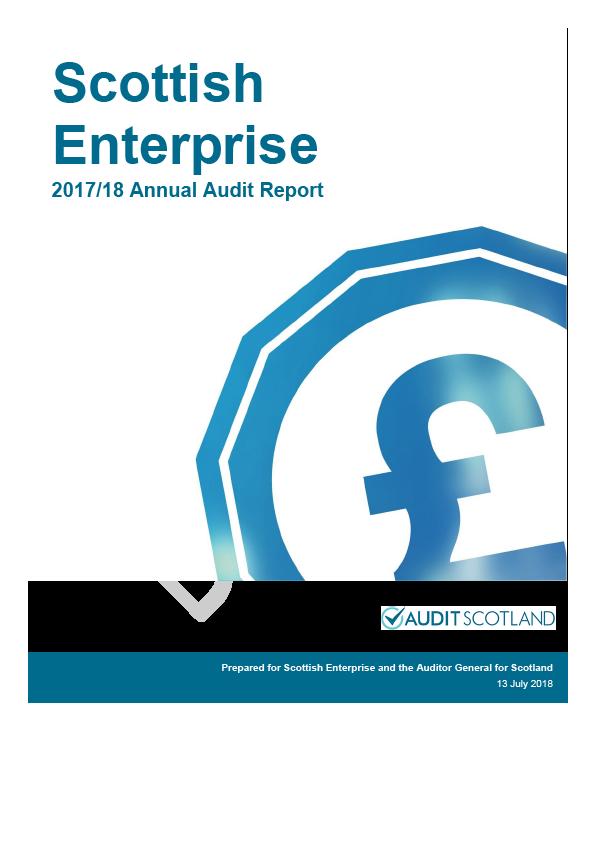 Report cover: Scottish Enterprise annual audit report 2017/18