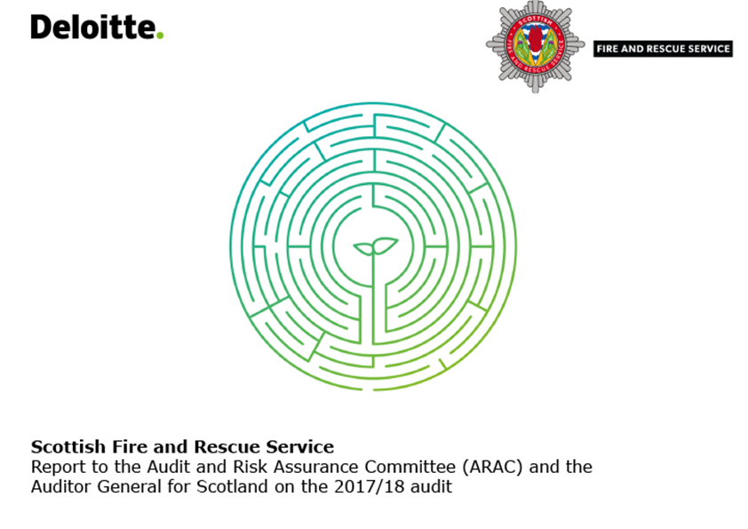 Report cover: Scottish Fire and Rescue Service annual audit report 2017/18