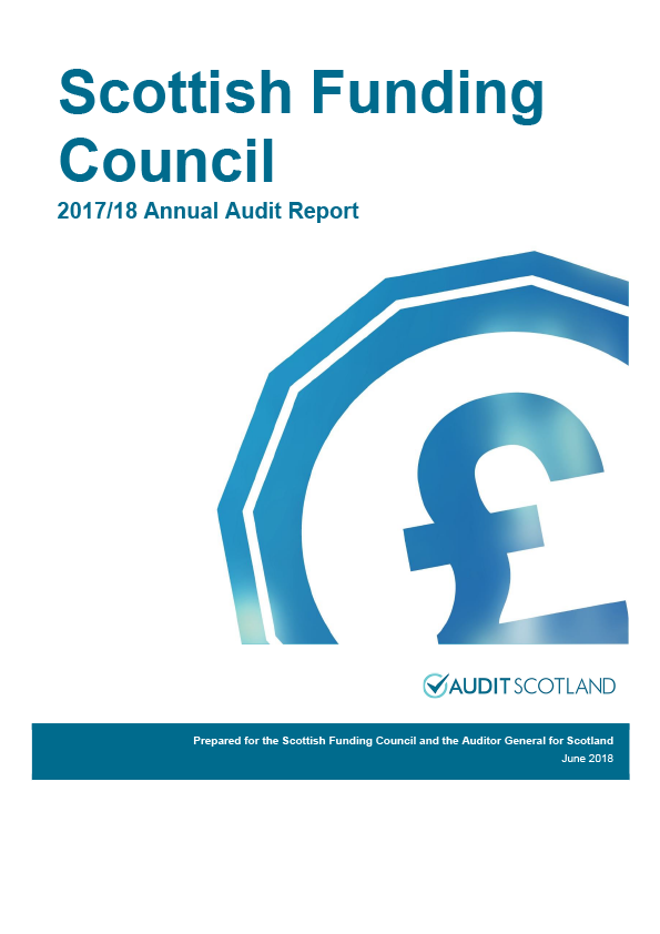 Report cover: Scottish Funding Council annual audit report 2017/18