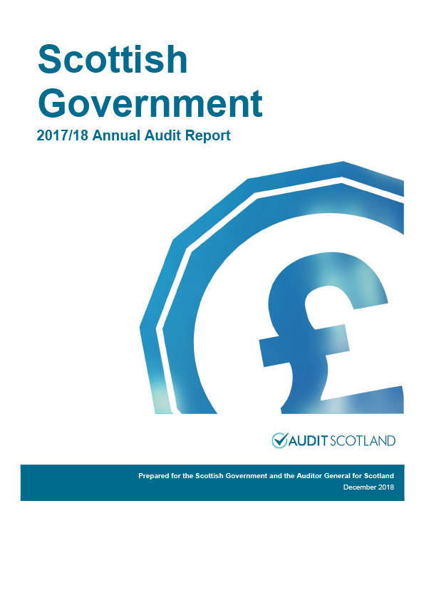 Report cover: Scottish Government annual audit report 2017/18