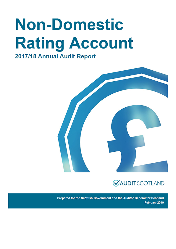 Report cover: Scottish Government: Non-Domestic Rating Account annual audit report 2017/18
