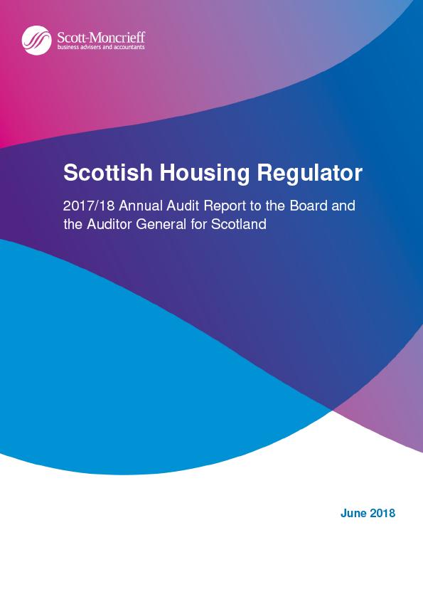 Report cover: Scottish Housing Regulator annual audit report 2017/18