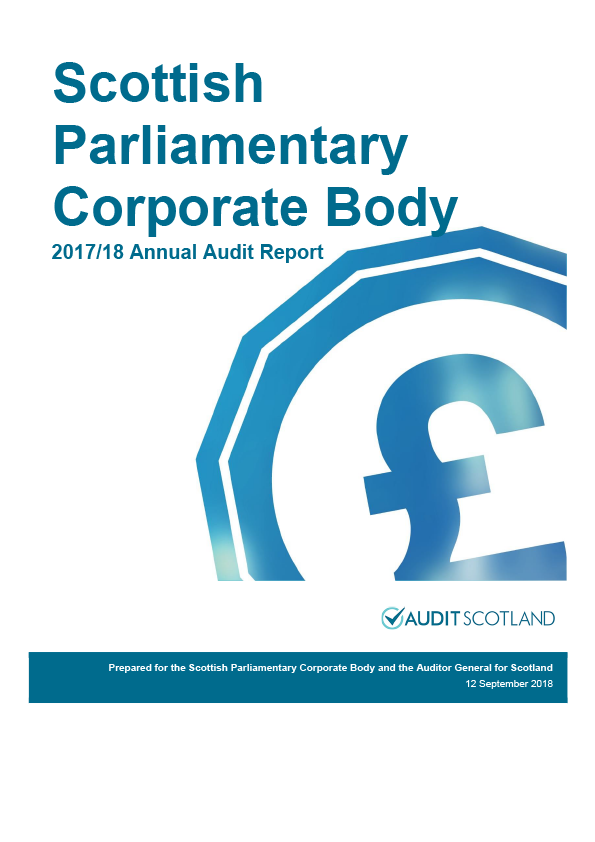 Report cover: Scottish Parliamentary Corporate Body annual audit report 2017/18