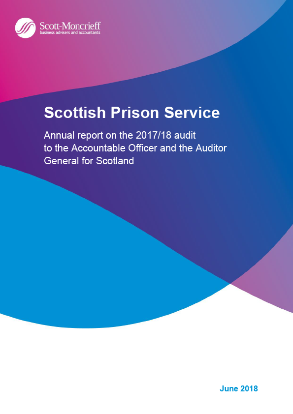 Report cover: Scottish Prison Service annual audit report 2017/18