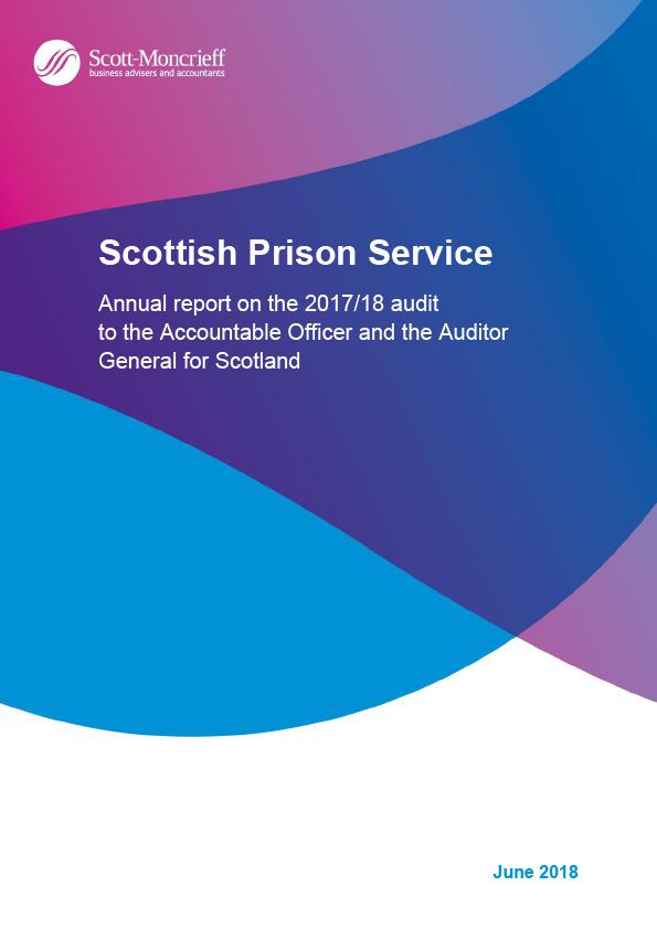 Report cover: Scottish Prison Service annual audit report 2017/18