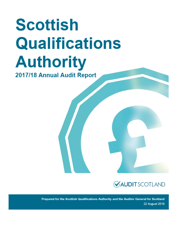 Report cover: Scottish Qualifications Authority annual audit report 2017/18