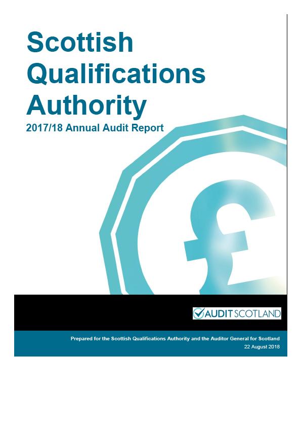Report cover: Scottish Qualifications Authority annual audit report 2017/18