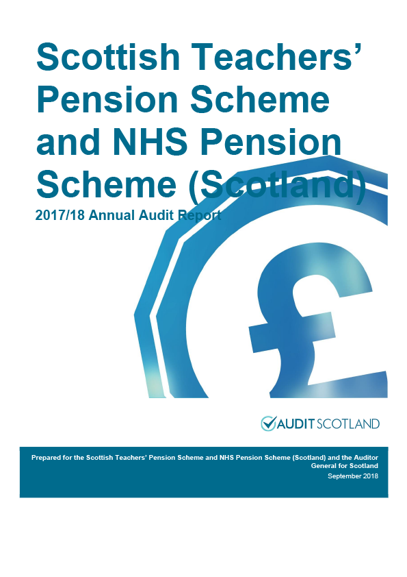 Report cover: Scottish Teachers' Pension Scheme and NHS Pension Scheme annual audit report 2017/18