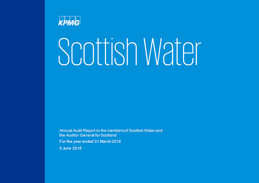 Report cover: Scottish Water annual audit report 2017/18