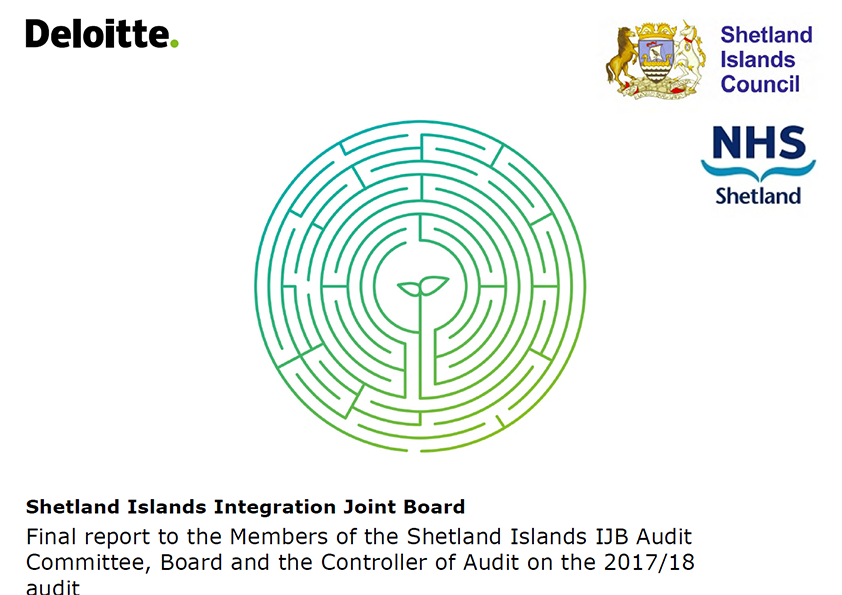 Report cover: Shetland Islands Integration Joint Board annual audit report 2017/18