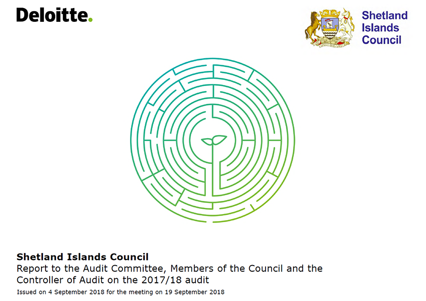 Report cover: Shetlands Islands Council annual audit report 2017/18