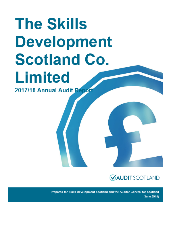 Report cover: Skills Development Scotland annual audit report 2017/18