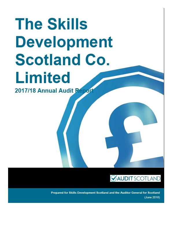 Report cover: Skills Development Scotland annual audit report 2017/18