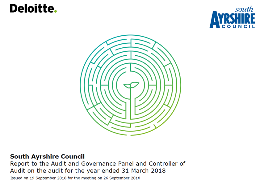 Report cover: South Ayrshire Council annual audit report 2017/18